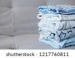 folded cozy fleece baby boy... | Shutterstock . vector #1217760811