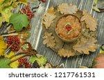 homemade tasty millet porridge. ... | Shutterstock . vector #1217761531
