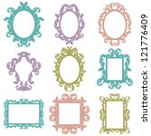Set of Vector Baroque Frames