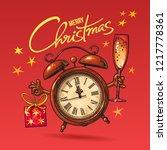 christmas greeting card.... | Shutterstock .eps vector #1217778361
