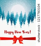 vertical merry christmas and... | Shutterstock .eps vector #1217783104