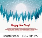 horizontal merry christmas and... | Shutterstock .eps vector #1217784697