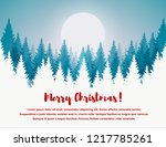 horizontal merry christmas and... | Shutterstock .eps vector #1217785261