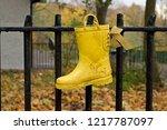 lost child yellow wellington... | Shutterstock . vector #1217787097