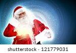 santa holding christmas letters ... | Shutterstock . vector #121779031