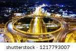 aerial drone hyperlapse night... | Shutterstock . vector #1217793007