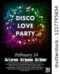 disco night party vector poster ... | Shutterstock .eps vector #1217795854