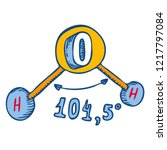 water molecule angle icon. hand ...   Shutterstock .eps vector #1217797084