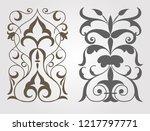 symmetric decorative elements...   Shutterstock .eps vector #1217797771