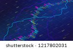 forex trading chart online with ... | Shutterstock .eps vector #1217802031