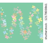 abstract pastel colorful green... | Shutterstock .eps vector #1217803861