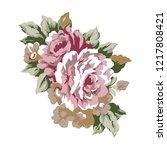 vintage roses design element ... | Shutterstock . vector #1217808421