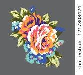 vintage roses design element ... | Shutterstock . vector #1217808424