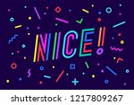 nice. banner  speech bubble ... | Shutterstock .eps vector #1217809267