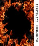 burning fire frame | Shutterstock . vector #1217815681
