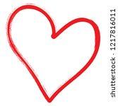 heart vector. hand drawn icon.... | Shutterstock .eps vector #1217816011