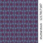 seamless decorative pattern...   Shutterstock .eps vector #1217817187