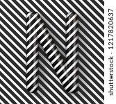 black and white stripes letter... | Shutterstock . vector #1217820637