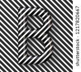 black and white stripes letter... | Shutterstock . vector #1217820667