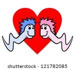 worms love | Shutterstock .eps vector #121782085