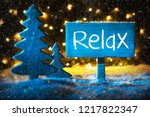 blue christmas tree  text relax ... | Shutterstock . vector #1217822347