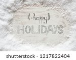 rustic white wooden background  ... | Shutterstock . vector #1217822404