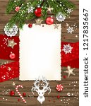 vertical holiday poster | Shutterstock .eps vector #1217835667