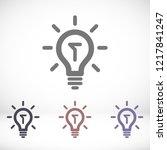 lamp vector icon | Shutterstock .eps vector #1217841247
