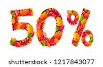 autumn sale 50  off discount... | Shutterstock . vector #1217843077