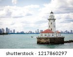 lighthouse with cloud  and blue ... | Shutterstock . vector #1217860297