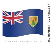 turks and caicos islands waving ... | Shutterstock .eps vector #1217861857