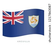 anguilla waving flag vector... | Shutterstock .eps vector #1217863087