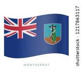 montserrat waving flag vector... | Shutterstock .eps vector #1217863117