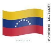 venezuela waving flag vector... | Shutterstock .eps vector #1217863354