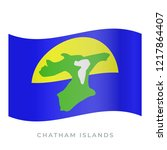 chatham islands waving flag... | Shutterstock .eps vector #1217864407