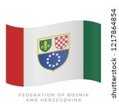 federation of bosnia and... | Shutterstock .eps vector #1217864854