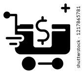 shopping cart icon vector | Shutterstock .eps vector #1217865781