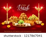 happy diwali background with... | Shutterstock .eps vector #1217867041