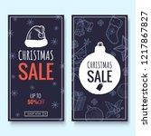 christmas sale web banner... | Shutterstock .eps vector #1217867827