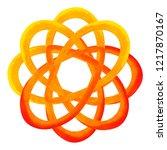 orange color of chakra symbol... | Shutterstock . vector #1217870167