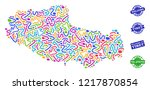 welcome combination of mosaic... | Shutterstock .eps vector #1217870854