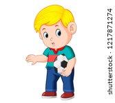 vector illustration of boy...   Shutterstock .eps vector #1217871274