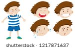 boy character with facial... | Shutterstock .eps vector #1217871637