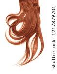 henna hair  isolated on white...   Shutterstock . vector #1217879701
