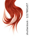 red hair  isolated on white... | Shutterstock . vector #1217881657