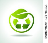 illustration of recycle symbol... | Shutterstock .eps vector #121788361