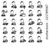 set of avatar icons   silhouette | Shutterstock .eps vector #121789087