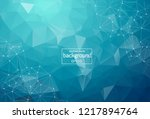 abstract dark blue polygonal... | Shutterstock .eps vector #1217894764