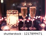 champagne drinks in a romantic... | Shutterstock . vector #1217899471