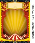 red and yellow circus. a... | Shutterstock .eps vector #121790401